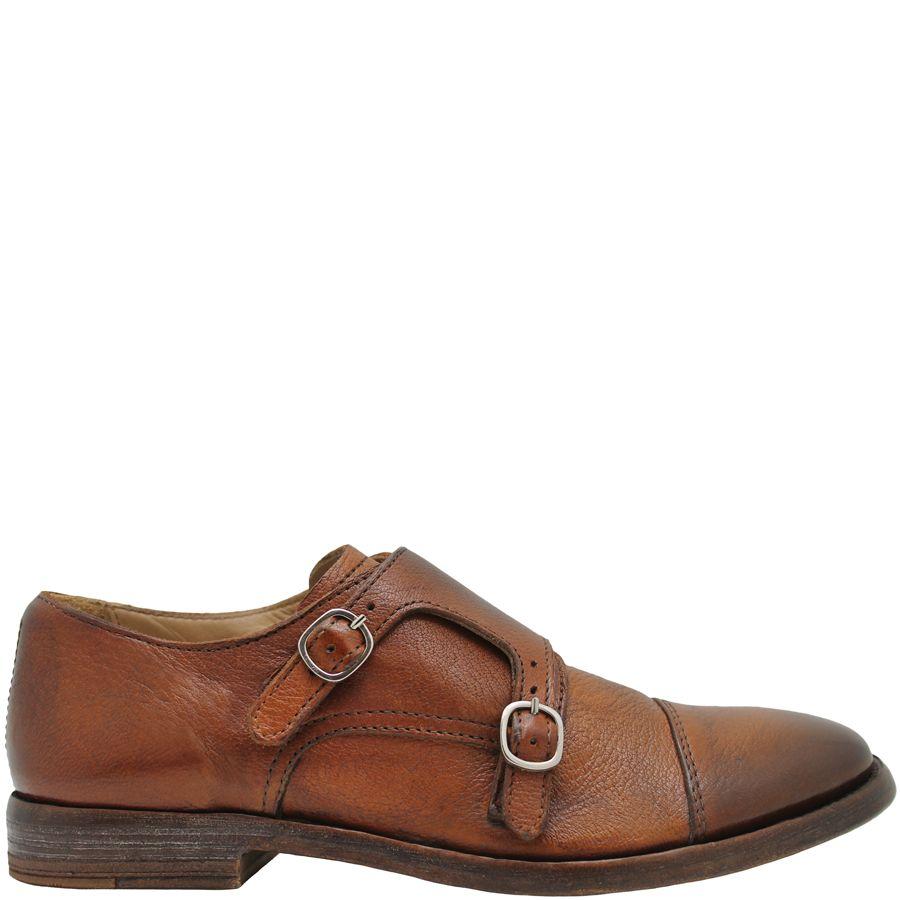 Moma Moma Camel Flat Monk Strap Shoe 9049