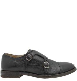 Moma Moma Black Flat Monk Strap Shoe 9049