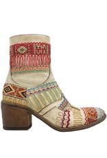 FauzianJeunesse FauzianJeunesse Saddle Tribal Embroidered Ankle Boot 3453