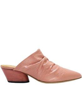Halmanera Halmanera Pink Patent Ruched Mule 1912