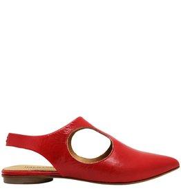 Halmanera Halmanera Red Patent Open Sides Flat 1922
