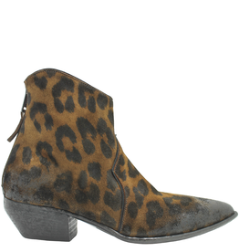 Elena Iachi ElenaIachi Leopard Back Zipper Western Boot Low Heel 1571