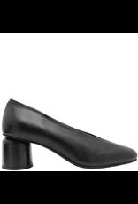 Halmanera Halmanera Black Calf Pump Round Low Heel 1950