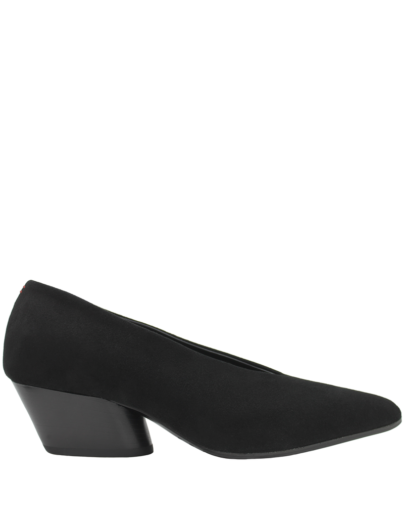 Halmanera Halmanera Black Suede Point Toe Pump Luna