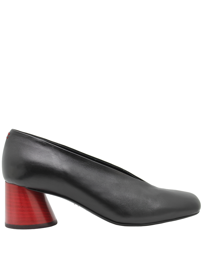Halmanera Halmanera Black  Asymmetric Toe With Cone Red Heel 1984