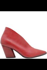 Halmanera Halmanera Red Medium Heel High Collar Pump 1990