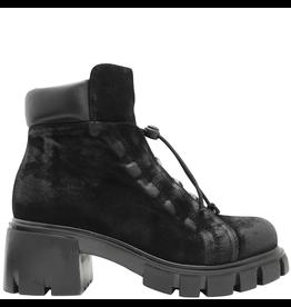 Now Now Black Nubuck Side Zipper Hiker Boot 5677