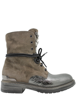 Now Now Taupe Suede With Metal Lace-Up Jewel Detail 5695