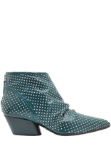 Halmanera Halmanera Green Patent Back Zipper Boot With Studs Kaite