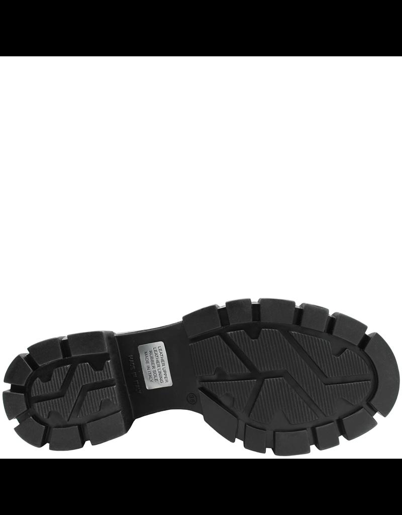 Now Now Metal Front Zipper Hiking Boot Medium Heel 5678