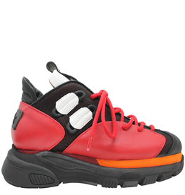 Ixos Ixos Black/Red/Orange Lace-Up Sneaker 7088