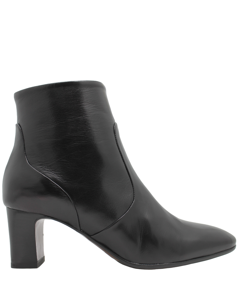 MaraBini MaraBini Black Nappa Side Zipper Ankle Boot 7395