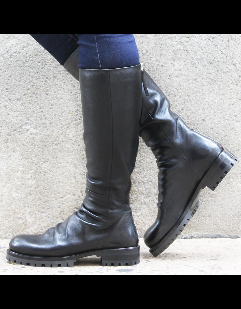 Halmanera Halmanera Black Calf Knee Boot Tread Sole 1972