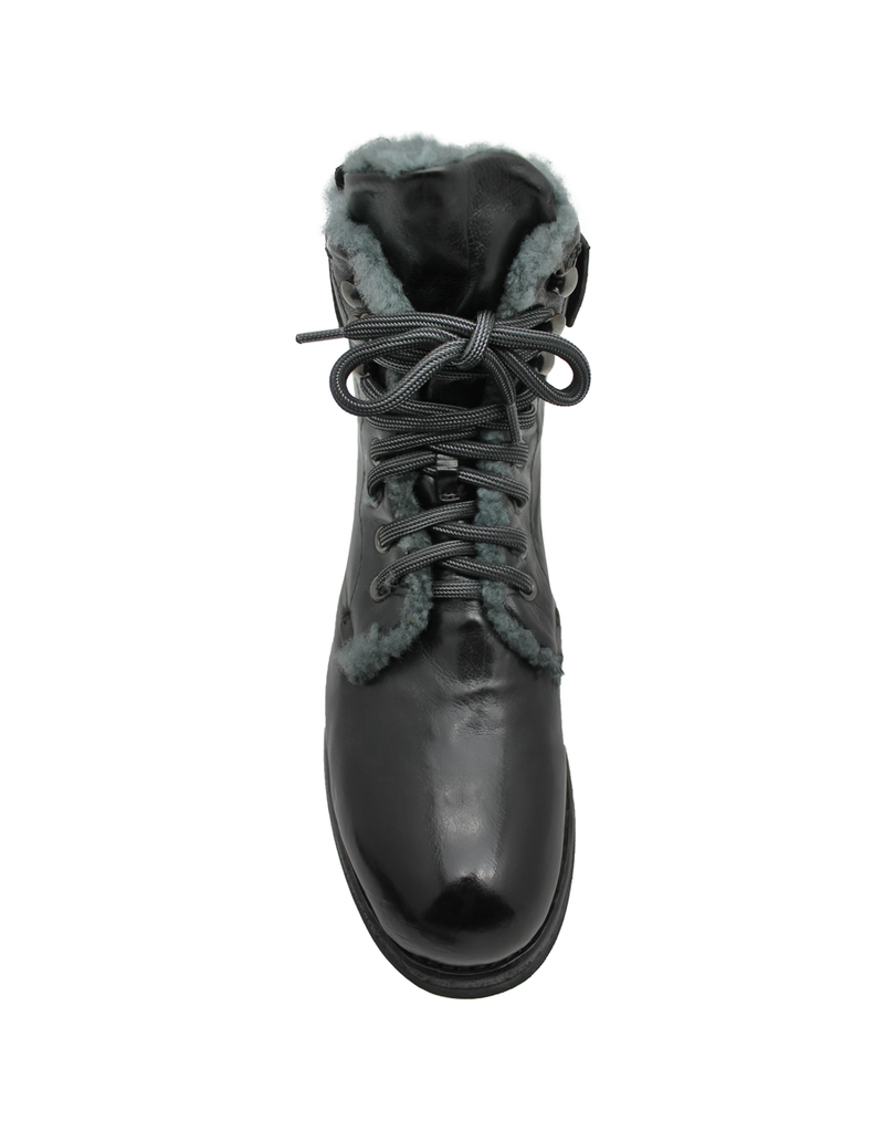 LeMargo LeMargo Black Lace Hiker Lined With Shearling Back Zip 2292