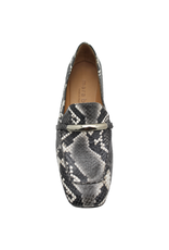 MaraBini MaraBini Grey Python Loafer With Metal Bar 7396