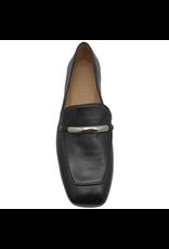 MaraBini MaraBini Black Nappa Loafer With Metal Bar 7396