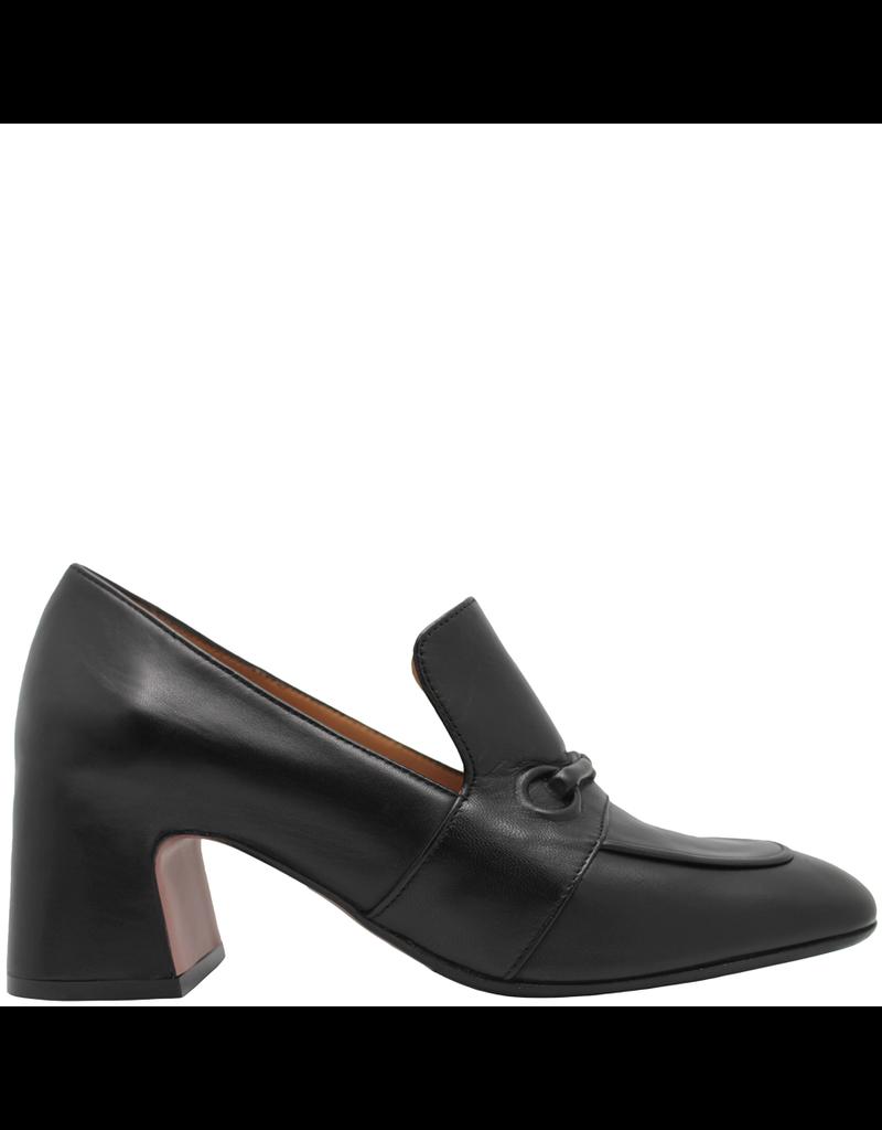 MaraBini MaraBini  Black Square Toe Loafer With Medium Heel 7404