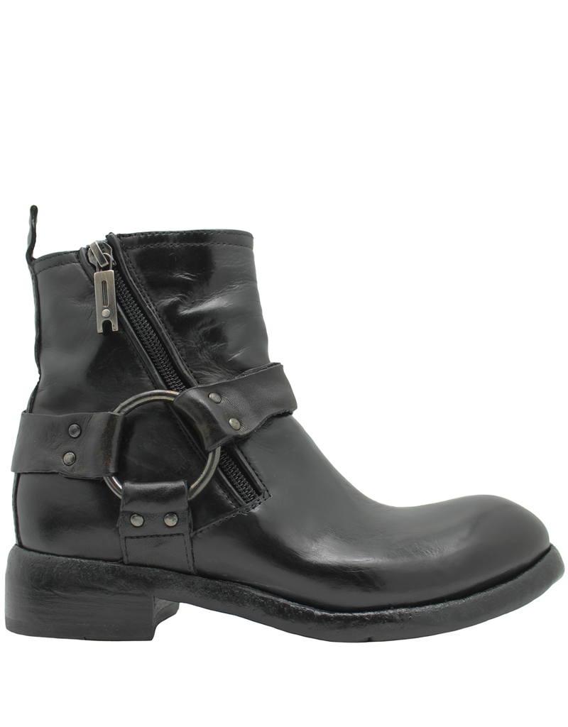 LeMargo LeMargo Black Moto Boot With Harness 2284