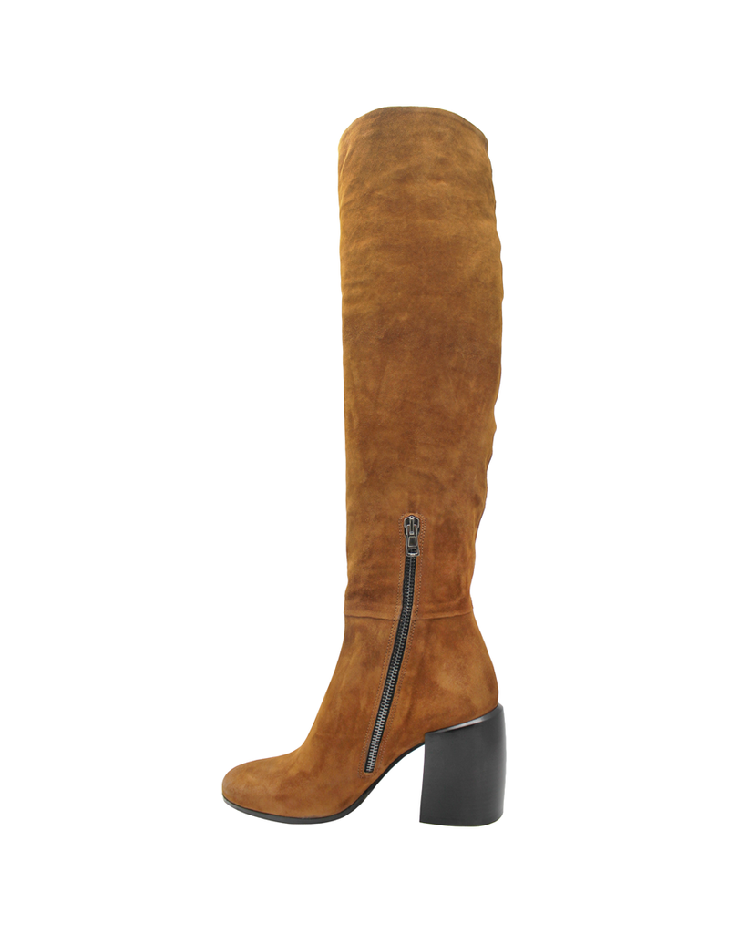 Now Now Brown High Heel Boot 6018