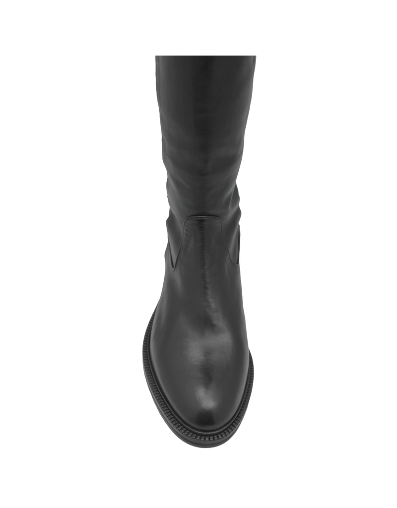 Now Now Black Nappa Pull On Over The Knee Boot 6004