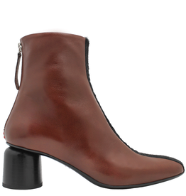 Halmanera Halmanera Brown Ankle Boot With Hair Calf And Back Zipper 1952