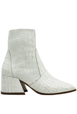 Elena Iachi ElenaIachi Snow White  Croco Square Toe Ankle Boot With Side Zipper 1945