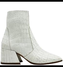Elena Iachi ElenaIachi Snow White  Croco Square Toe Ankle Boot With Side Zipper 1945