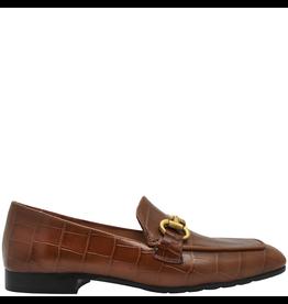 MaraBini MaraBini Camel Croco Loafer With Gold Bit 7412