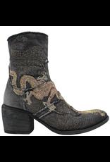 FauzianJeunesse FauzianJeunesse Black Denim Embroidered Dragon Boot 3628