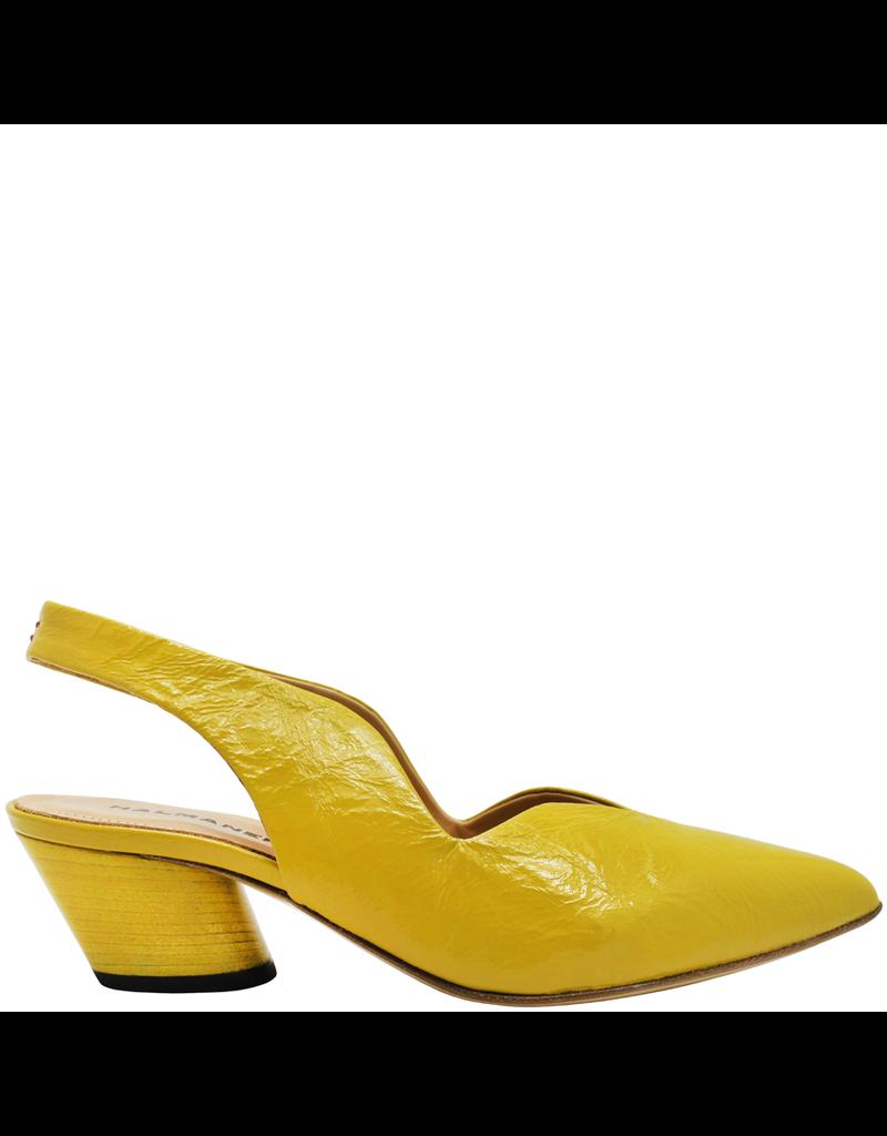 Halmanera Halmanera Yellow Patent Sling-Back With Matching Heel 2004
