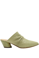 Halmanera Halmanera Mint Ruched Mule With Matching Mint Heel 2005