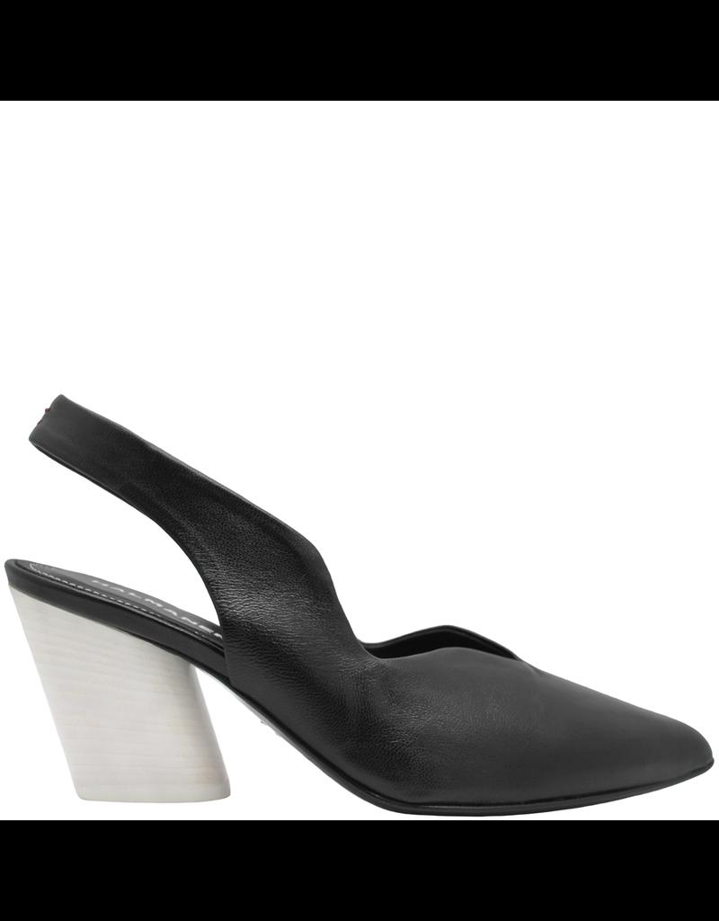 Halmanera Halmanera Black Sling Back With White Contrast Heel 2007