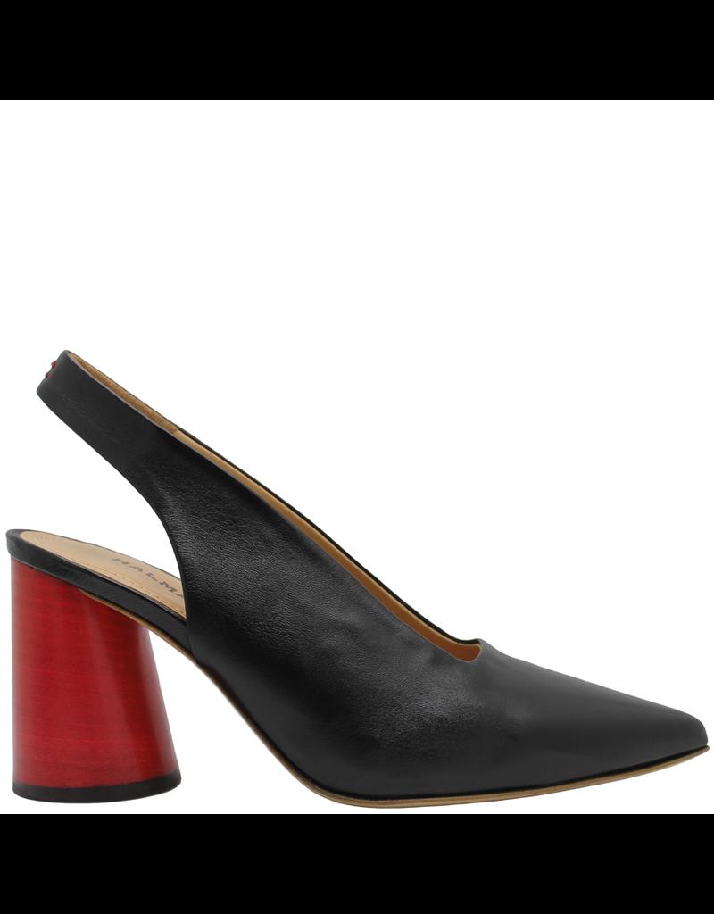 Halmanera Halmanera Black Point Toe Sling Back With Red Heel 2010