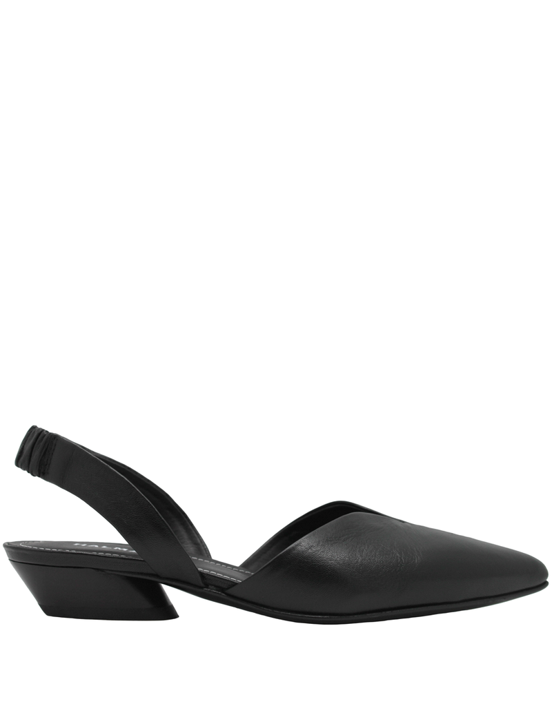 Halmanera Halmanera Black Sling Back With Black Heel Point Toe 2011