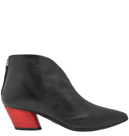 Halmanera Halmanera Black Point Toe Ankle Boot Red Heel 2014
