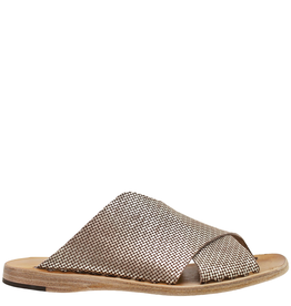 Officine Creative OfficineCreative Gold Criss Cross Slide Sandal Kacey