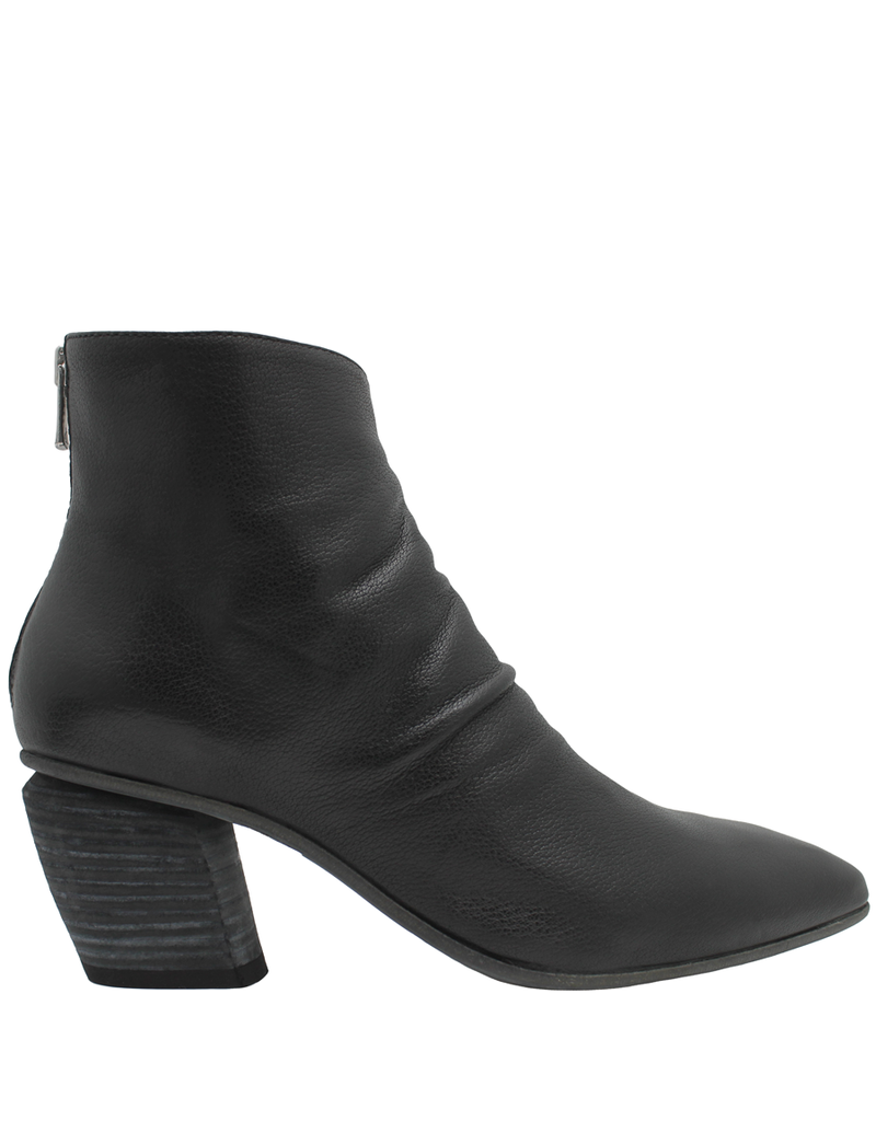 Officine Creative OfficineCreative Black Point Toe Ankle Boot With Back Zipper Livia