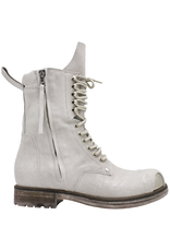 Now Now Off White 2 Zipper Metal Toe Cap Ankle Boot Dora