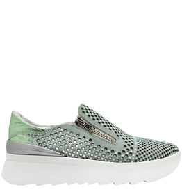 Now Now Green 2 Zipper Laser Sneaker Raina