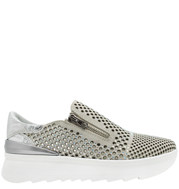 Now Now ivory 2 Zipper Laser Sneaker Raina