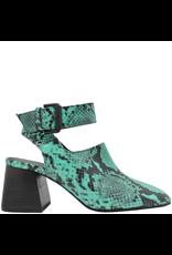 VicMatie VicMatie Emerald Snake Print Sandal 8422