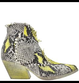 Elena Iachi ElenaIachi Black White Yellow Woven Snake Print Western 2251