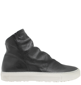Fiorentini+Baker Fiorentini+Baker Black Calf Side Zipper High Top Sneaker Biel
