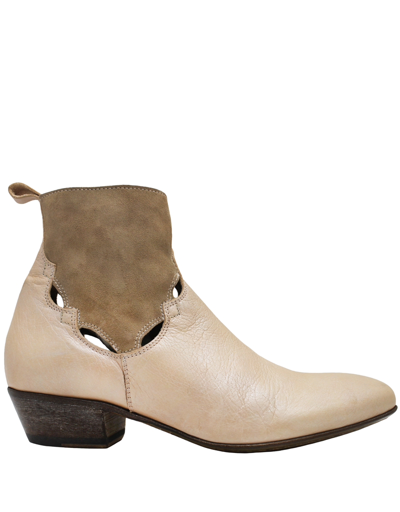 Moma Blush Calf With Suede Ankle Boot  9090