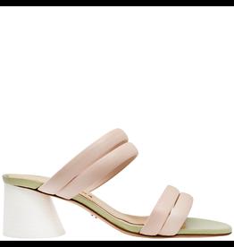 Halmanera Halmanera Peony Banded Mule With White Heel 2016