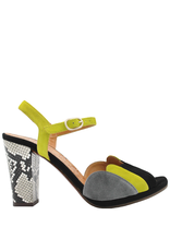 ChieMihara ChieMihara Grey Suede With Yellow Buckled Closure Adita