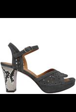 ChieMihara ChieMihara Grey Laser Buckled Sandal With Snake Heel Elisea