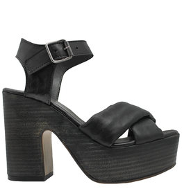 Moma Moma Black Nappa Platform Sandal 9092