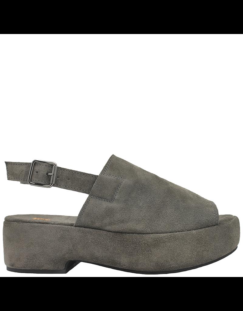 Moma Moma Grey Suede Platform Sling Back Sandal 9095