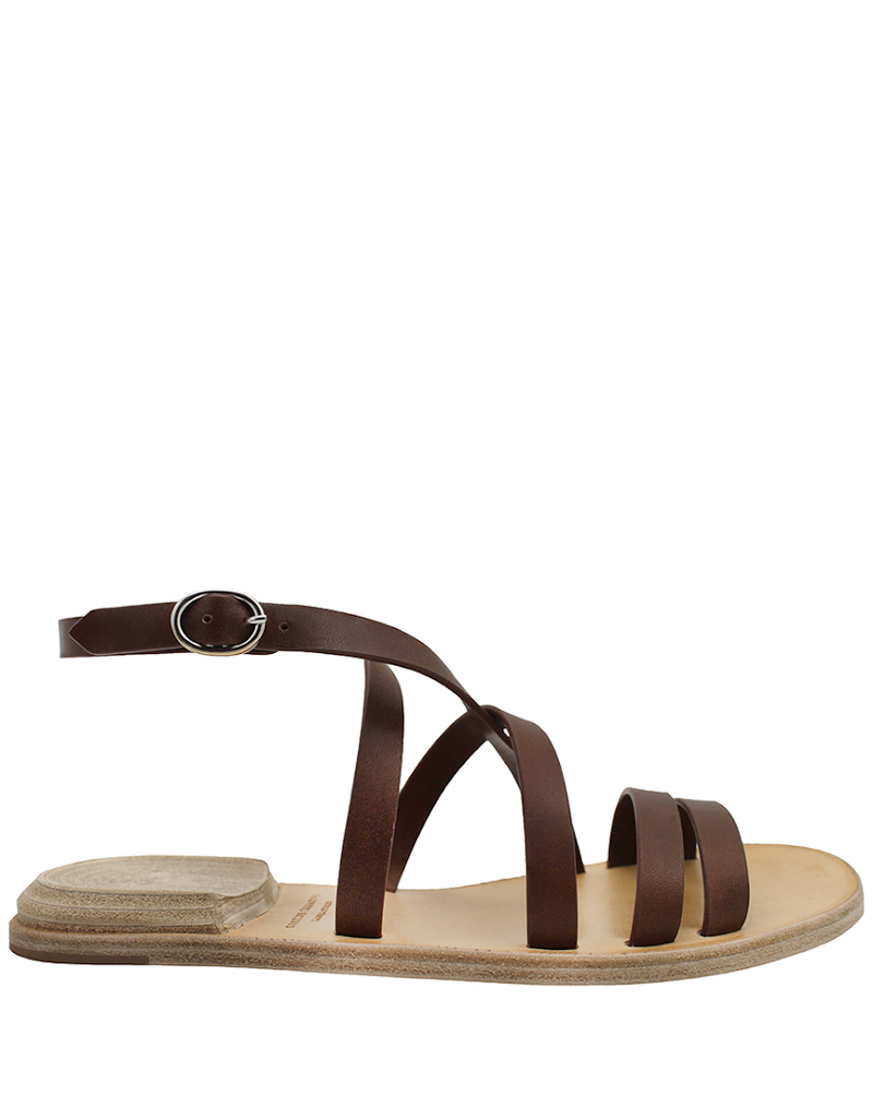 Officine Creative OfficineCreative Brown Strap Flat Sandal Heel On Top Ada
